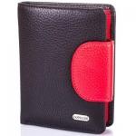 купить Женский Кожаный кошелек Канпеллини Black-Red цена, отзывы