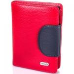 купить Женский Кожаный кошелек Канпеллини Red - Black цена, отзывы
