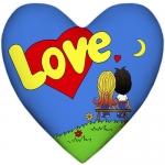 купить Подушка Love is сердце цена, отзывы