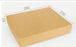 купить Подарочная коробка Крафт 28х23х5см цена, отзывы