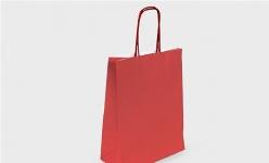 купить Подарочный пакет Крафт красный 18х8см цена, отзывы