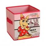 купить Короб складной для детских игрушек Кенгуру розовый цена, отзывы