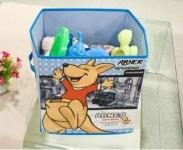 купить Короб складной для детских игрушек Кенгуру голубой цена, отзывы