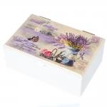 купить Деревянная шкатулка Лавандовый букет цена, отзывы