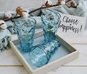 купить Набор стеклянных стаканов Merry голубой цена, отзывы