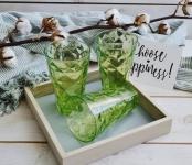 купить Набор стеклянных стаканов Merry зеленый цена, отзывы