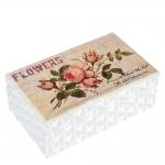 купить Деревянная шкатулка (flowers) цена, отзывы