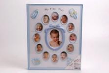 купить Детский фотоальбом Мой первый год голубой цена, отзывы