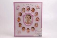 купить Детский фотоальбом Мой первый год розовый цена, отзывы