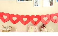 купить Гирлянда бумажная объемная 3D My heart цена, отзывы