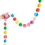 купить Гирлянда бумажная объемная 3D Кружочки цена, отзывы