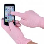купить Перчатки для сенсорных телефонов розовые цена, отзывы