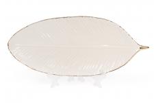 купить Керамическое Блюдо Листик Слоновая кость цена, отзывы