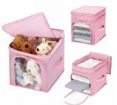 купить Органайзер для игрушек, одежды бамбук розовый цена, отзывы
