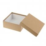 купить Подарочная коробка крафт 28х28х8 см цена, отзывы