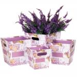 купить Комплект коробок для цветов Сирень (4 шт.) цена, отзывы