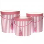 купить Комплект коробок для цветов Pink Fool (3 шт.) цена, отзывы
