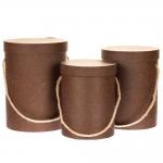 купить Комплект коробок для цветов Good Brown (3 шт.) цена, отзывы