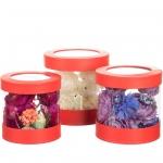 купить Набор коробок для цветов Цилиндр Red (3 шт.) цена, отзывы