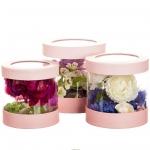 купить Набор коробок для цветов Цилиндр Pink (3 шт.) цена, отзывы