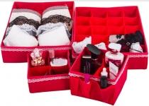 купить Комплект Органайзеров для белья и косметики Кармен 4 шт. цена, отзывы