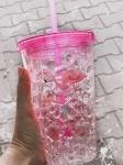 купить Стакан с трубочкой Розовый фламинго цена, отзывы