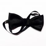 купить Двойная Бабочка галстук Черный цена, отзывы