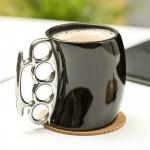 купить Чашка кастет Black с серебристой ручкой цена, отзывы