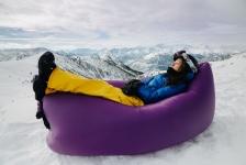 купить Надувное кресло-лежак фиолетовое цена, отзывы