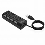 купить Разветвитель USB 2.0 хаб 4 порта с кнопками on off цена, отзывы