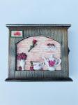 купить Ключница настенная чайная Роза к-03 цена, отзывы
