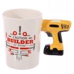 купить Керамическая чашка Caution Building дрель цена, отзывы