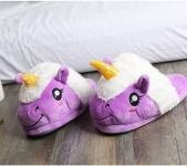 купить Домашние тапочки Единорог Фиолетовый цена, отзывы