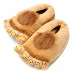 купить Тапочки ноги первобытного человека brown цена, отзывы