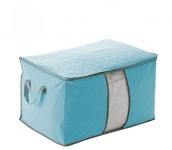 купить Органайзер для одежды, постельного белья бамбук (голубой) цена, отзывы