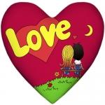 купить Подушка Love is сердце Red цена, отзывы