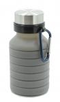 купить Складная силиконовая бутылка с карабином LUX Bottle (Grey) цена, отзывы
