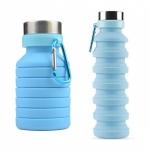 купить Складная силиконовая бутылка с карабином LUX Bottle (Blue) цена, отзывы