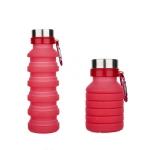 купить Складная силиконовая бутылка с карабином LUX Bottle (Red) цена, отзывы