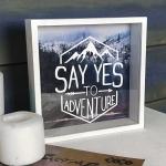 купить Деревянная копилка для денег Say yes to adventure цена, отзывы