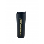 купить Термокружка матовая тамблер Starbucks 473мл (Black-Gold) цена, отзывы