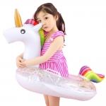купить Надувной круг Единорог детский с блестками внутри 70см цена, отзывы