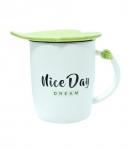 купить Чашка керамическая Зеленый Листок Niсe Day Dream цена, отзывы