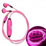 купить Светящиеся вакуумные наушники c микрофоном  цена, отзывы