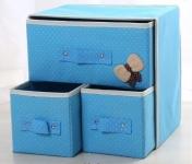 купить Мини комодик для белья (Голубой) цена, отзывы