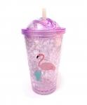купить Термостакан Ice Cap Фламинго ( Фиолетовый ) цена, отзывы