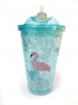 купить Термостакан Ice Cap Фламинго (Голубой ) цена, отзывы