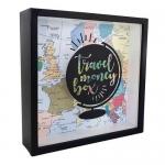 купить Деревянная копилка для денег Travel money box Глобус цена, отзывы