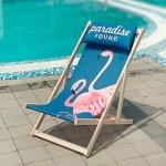 купить Шезлонг складной для пляжа Розовые Фламинго  цена, отзывы