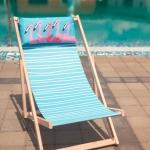 купить Шезлонг складной для пляжа и бассейна Фламинго цена, отзывы